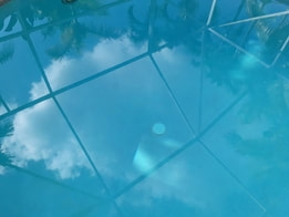 Pool Screen Reflection in Pembroke Pines, Fl